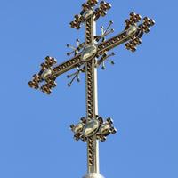 Крест на православном храме.